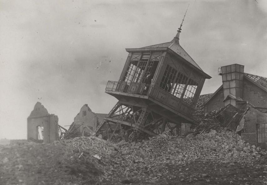 Meurchin, fosse n°5 détruite par les Allemands 14-18
